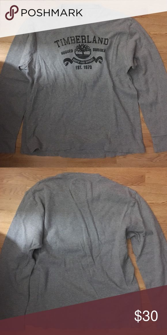 Timberland Shirt Worn once, like new. Not too heavy but not lightweight either Timberland Shirts Tees - Long Sleeve