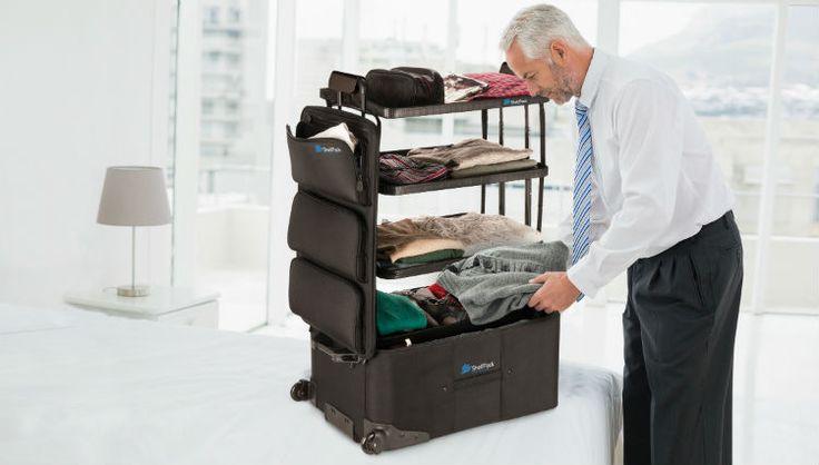 Shelfpack: La maleta que se convierte en un clóset portátil