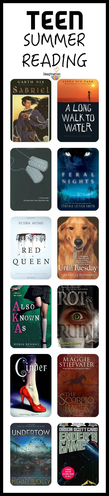 teen summer reading list - lots of fantastic books!