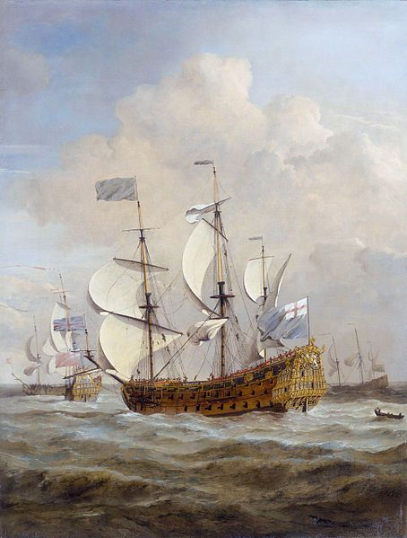 """""""The 'St Andrew' at Sea in a Moderate Breeze,"""" by Willem van de Velde the Younger."""