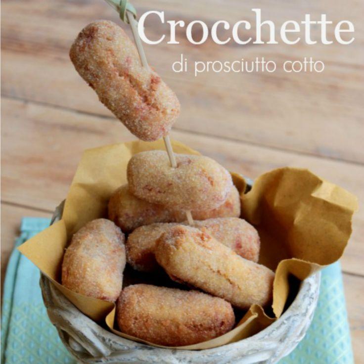 Crocchette di prosciutto cotto al forno o fritte sono sempre irresistibili! Una ricetta per consumare gli avanzi di salumi.Ottimo antipasto da servire caldo
