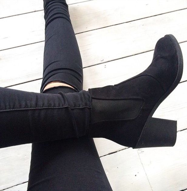 1000  ideas about Black Ankle Boots on Pinterest | Black booties