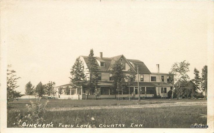 C-1910 Binghams Torch Lake Country Inn Michigan RPPC real photo postcard 5737