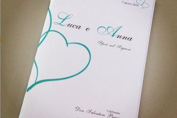 Libretto matrimonio tiffany