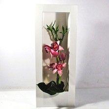 Cadre végétal a garnir Spécial Orchidée coloris Blanc