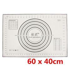 Черный 60 x 40 см силиконовые стекловолокна лист выпечки прокатки тесто кондитерские формы для выпечки тортов лайнер мат печь паста инструменты для приготовления пищи(China (Mainland))
