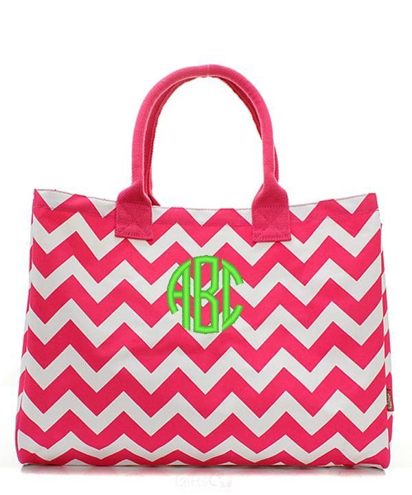 pink u0026 white chevron oversized large beach bag tote hot pink - Large Tote Bags