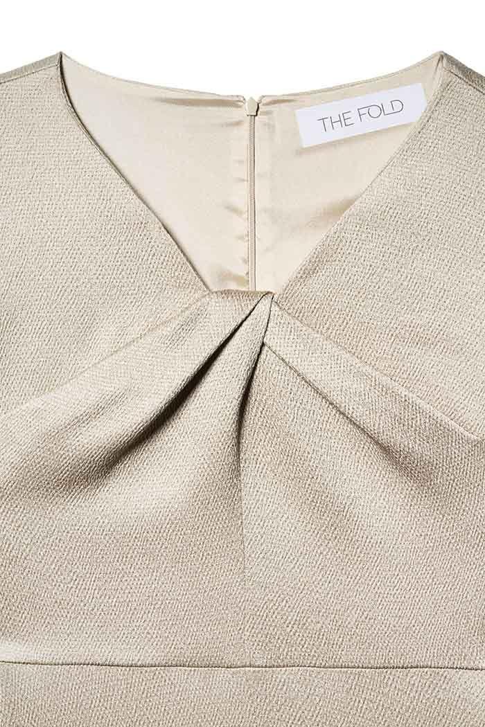 9181fed9344 Bellevue dress in oyster textured satin - £365