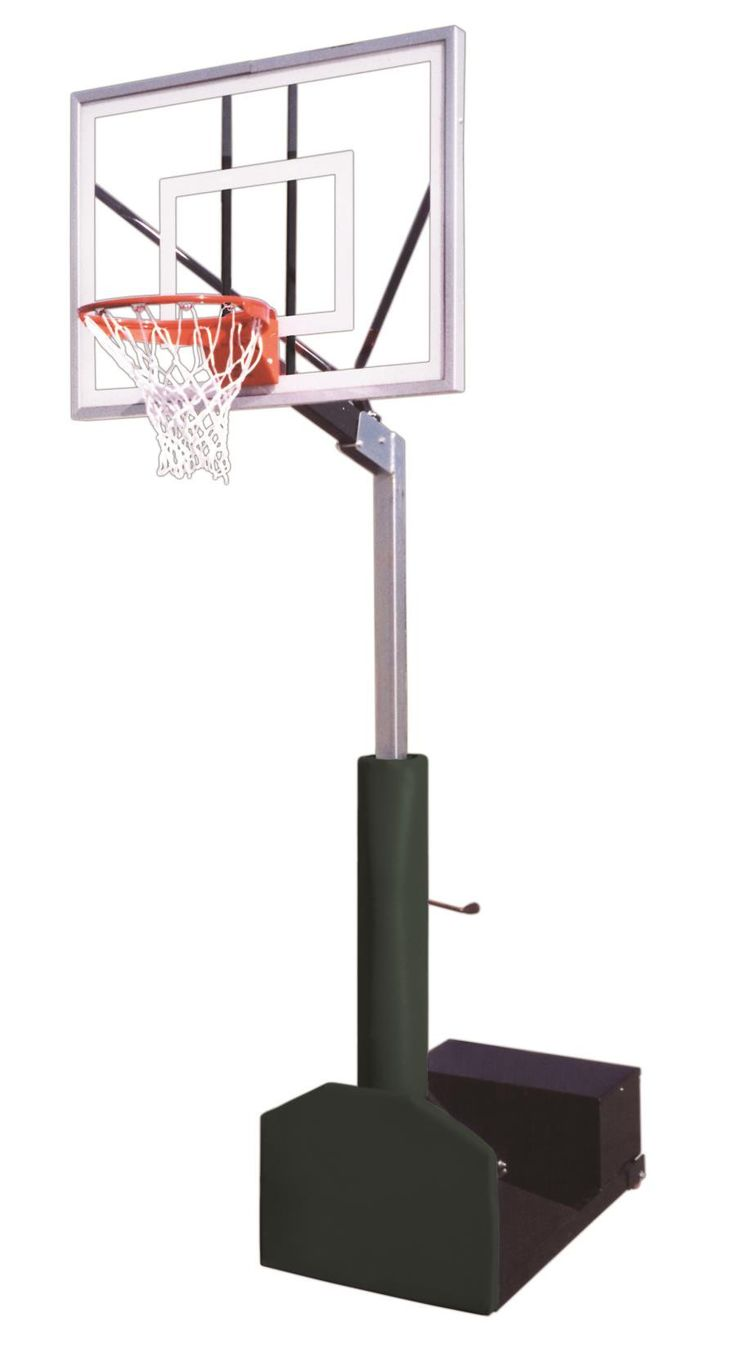 First Team Rampage Turbo Adjustable Portable Basketball Hoop 54 Inch  Tempered Glass