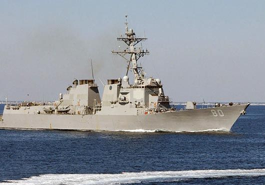 German navy officer is currently underway on the Arleigh Burke-class guided-missile destroyer USS Roosevelt (DDG 80) as part of the Personnel Exchange Program (PEP).Lt. Maik Welk, from Rostarch, Germany, brings nine years of experience in the German navy to Roosevelt where he currently serves as an assistant to the operations officer.