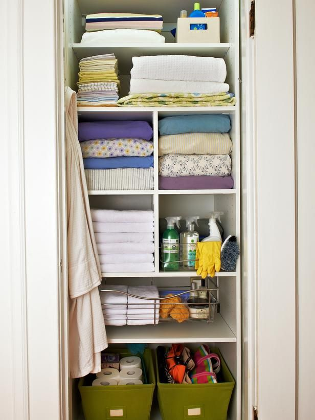 Case Study: An Efficient Linen Closet : Interior Remodeling : HGTV  Remodels. Organize Small