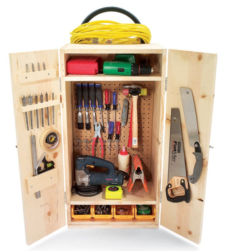 Diy Tool Storage Cabinet: How To Build Your Own Mobile Tool Cabinet: DIY Plans