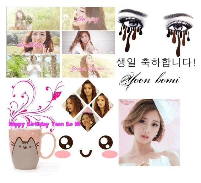 """Happy birthday Yoon bomi"" by maste-apink02 ❤ liked on Polyvore featuring Pusheen"