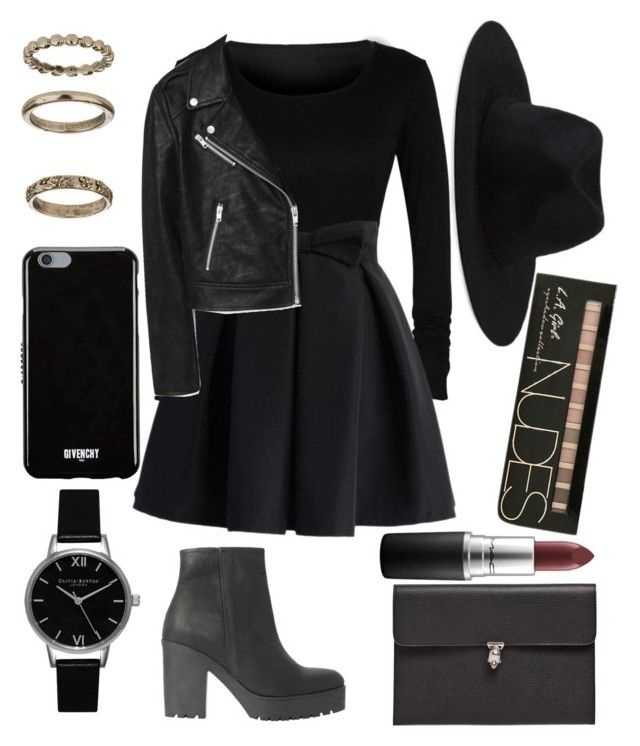 """#356"" by niazkmls on Polyvore featuring Chicwish, Topshop, MANGO, Alexander McQueen, Element, Givenchy and MAC Cosmetics"
