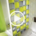 Vidéo : monter une cloison en brique de verre