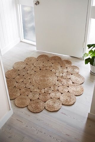 Circles of soft hemp gather together to create a posy, celebrating the lovely Camellia flower's even, concentric petals. With a diameter of 1.22m this rug will make an impression. Perfect for entrance ways, children's rooms and living spaces. As seen on Channel 9's hit TV Show, The Block.