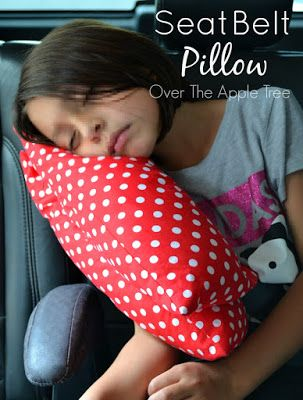 Over The Apple Tree: Seat Belt Pillow