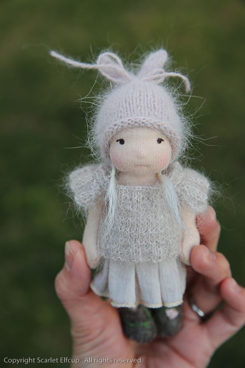 Soft knits for a tiny doll by Scarlet Elfcup