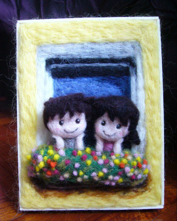 3D image made of wool