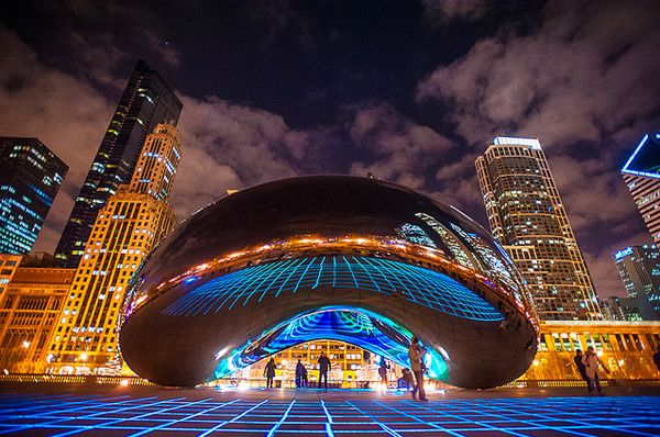 Luminous Field installation in Chicago