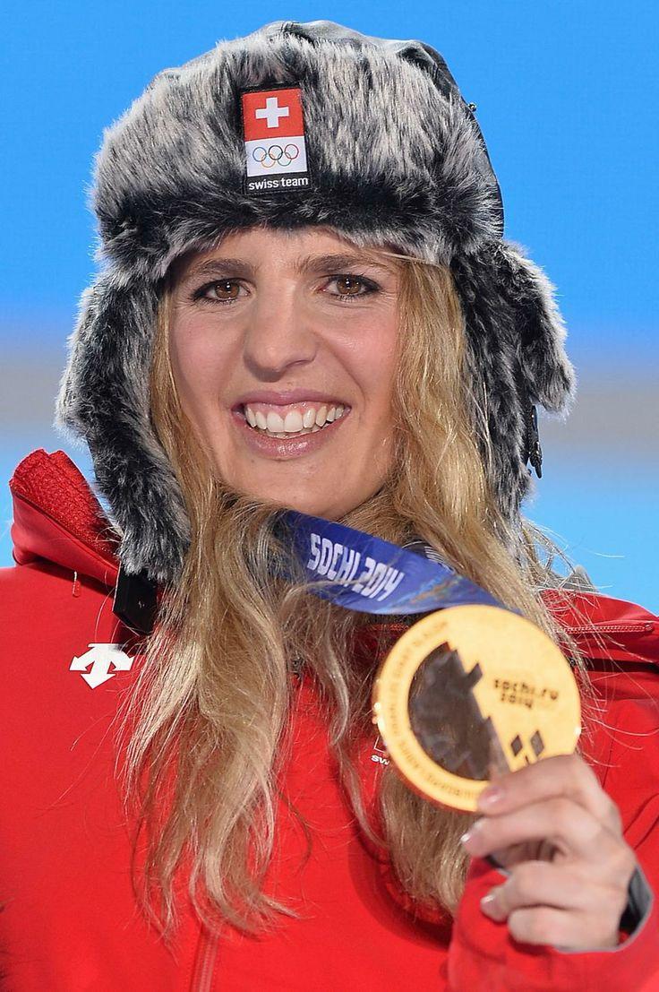 SNOWBOARD LADIES' PARALLEL GIANT SLALOM:  Gold medalist Patrizia Kummer of Switzerland