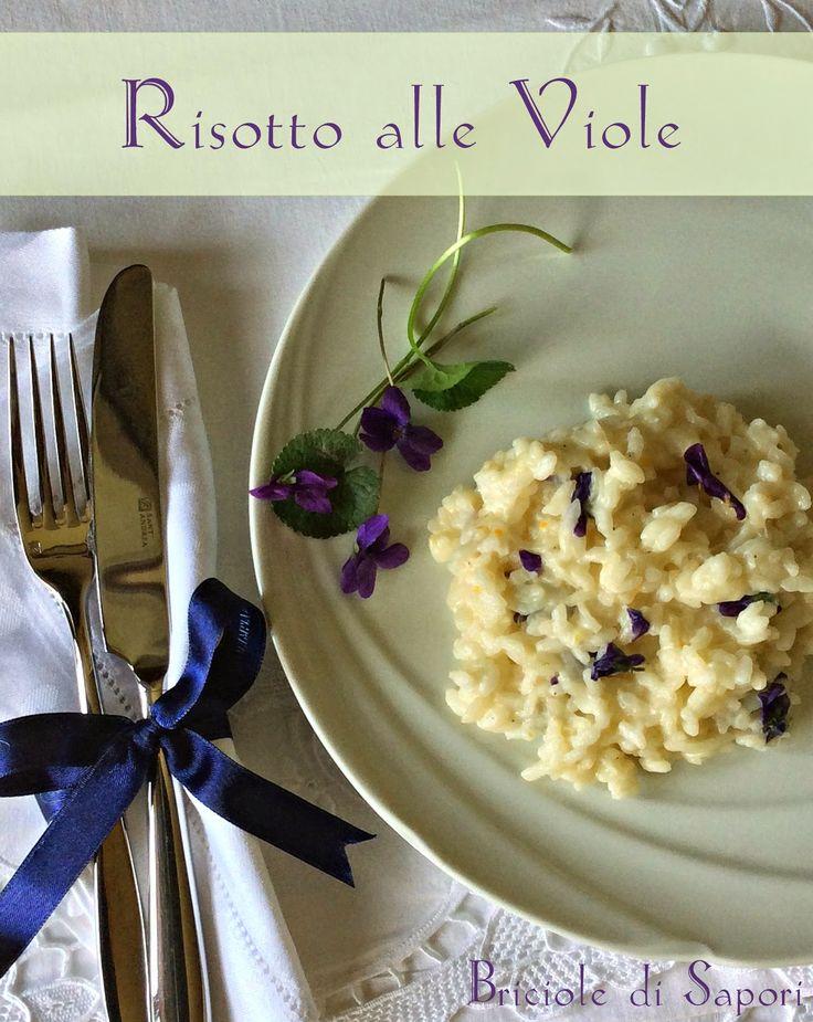 Briciole di Sapori: Risotto alle viole... La delicatezza della primave...