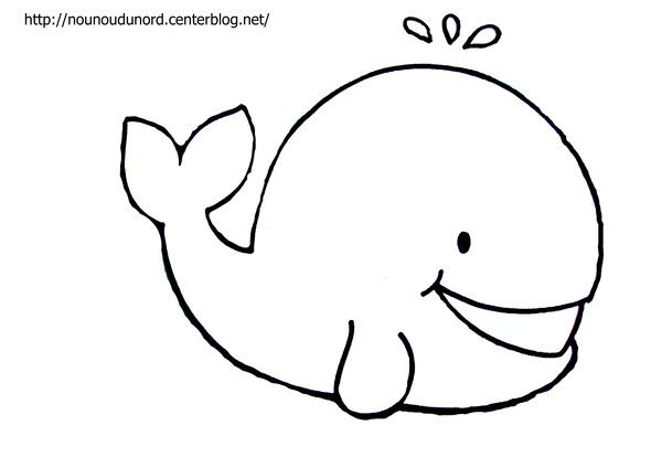 Baleine (avec images)   Coloriage baleine, Baleine dessin, Coloriage poisson