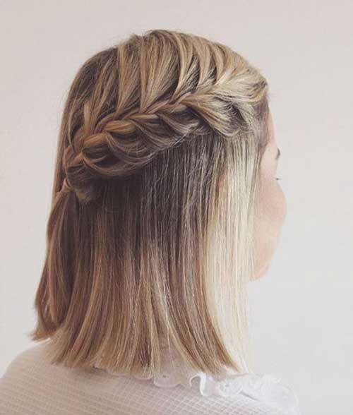 40 Braids Wedding Hairstyles For Short Hair 25 Braids For Short Hair Short Wedding Hair Hair Styles