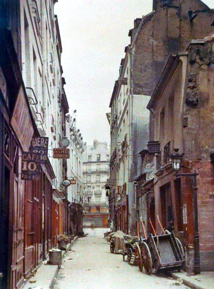 Paris 1900, rue de Bièvre.  Photos extrêmement rares de Paris en couleurs au début des années 1900 | LE JOURNAL DU SIECLE