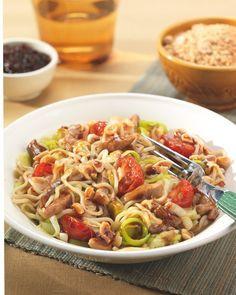 Vietnamese noedels met vleesreepjes recept