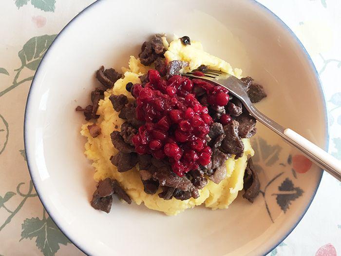 MAHTAVA! Der Finnische Food & Design Blog: Finnische Küche: Rentiergeschnetzeltes ( Poronkäristys)