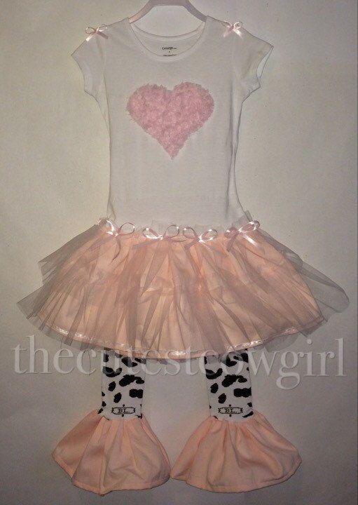 Girls Heart Ballerina Ballet Pink Twirl Dress by TheCutestCowgirl