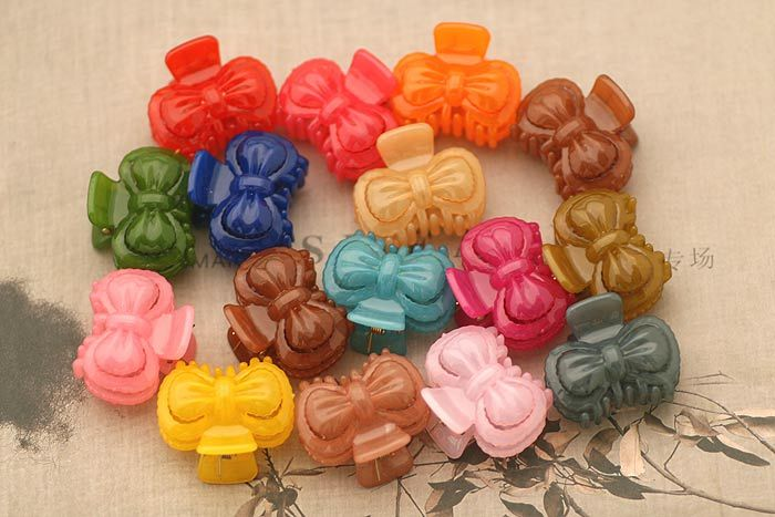Jelly Bowknot Hair Claw