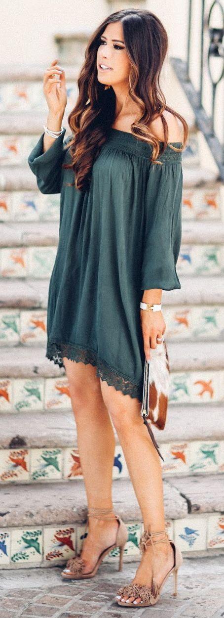 Olive You ~ Cute date night dress.