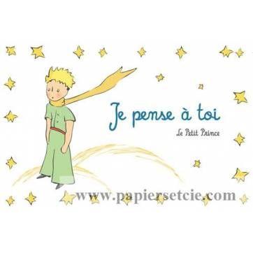 Carte Le Petit Prince Je Pense à Toi El Principito El
