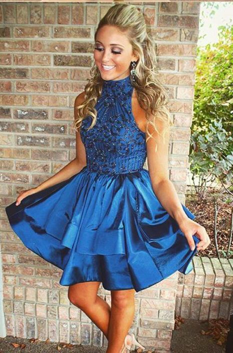 Short homecoming dresses,  royal blue dress, classy dress, homecoming dresses for teens, 2016 homecoming dresses ♦F&I♦