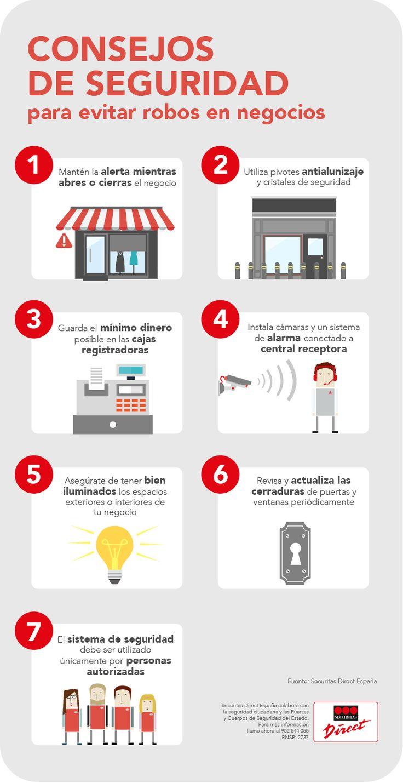 Consejos de seguridad para evitar robos en negocios