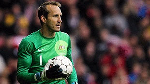 Great save ... Mark Schwarzer saved Australia with a world class save (Getty) 8 June 2012