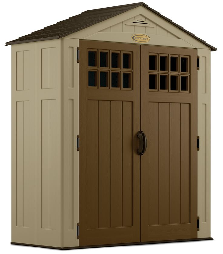 suncast 6 x 3 everett storage shed brown