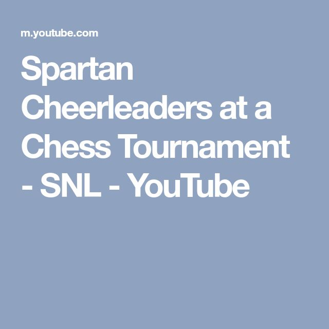 Spartan Cheerleaders at a Chess Tournament - SNL - YouTube