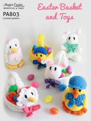 PA803-R Easter Baskets & Toys Crochet Pattern