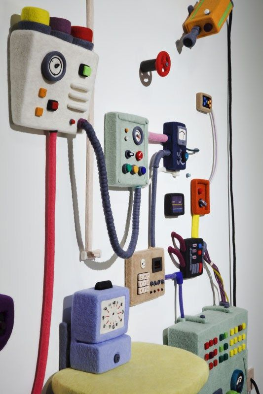 "Seattle-based artist Moxie Lieberman spent a year ""needle felting"" to create ""Control,"" a system of gadgets comprised entirely of wool. The process comes from transforming wool fiber into felt with…"