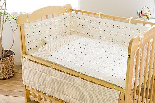 フジキ ベビーポルカ ベッドガードパット 赤ちゃん 日本製