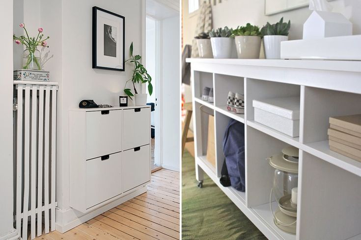 Hallway storage solutions from Ikea including pull down shoe racks