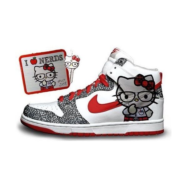 hello kitty shoes | Tumblr ❤ liked on Polyvore