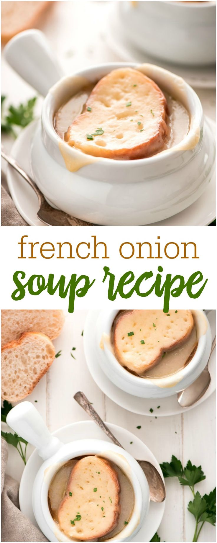 A simple and delicious French Onion Soup recipe. Perfectly served with french bread, this soup is always a favorite!