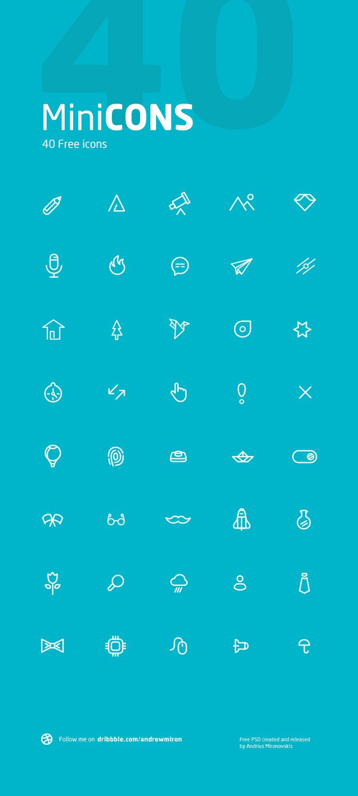 MiniCONS Free Creative Icons, #Free, #Graphic #Design, #Icon, #Outline, #PSD, #Resource