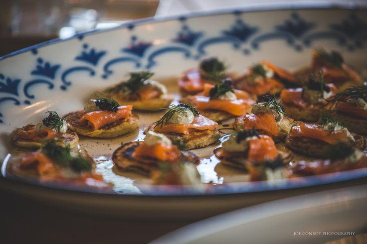 Delicious Canapes at Ballintubbert Gardens and House by our in-house caterer Lu-Thornely. Photography by Joe Conroy Photography.