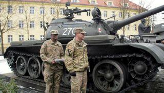 : <p>Soldados americanos na Polônia, militares EUA</p>