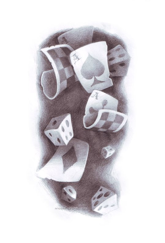 Dice and card drawings
